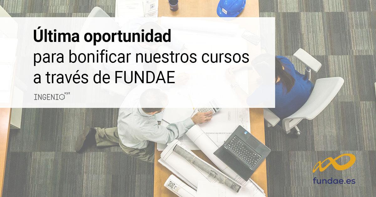 Imagen Última oportunidad para bonificar nuestros cursos a través de FUNDAE