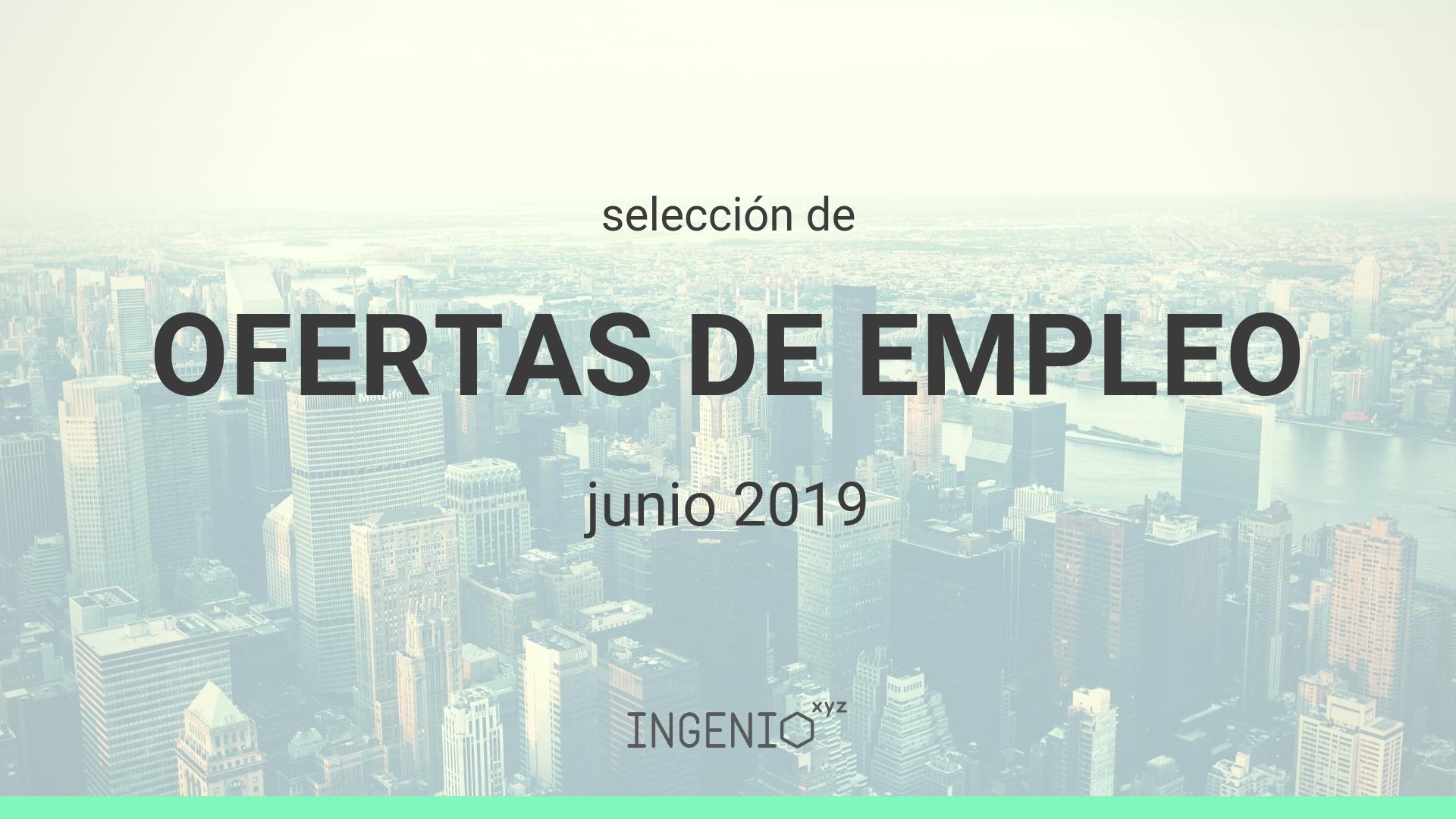 Imagen Selección ofertas de empleo Junio 2019