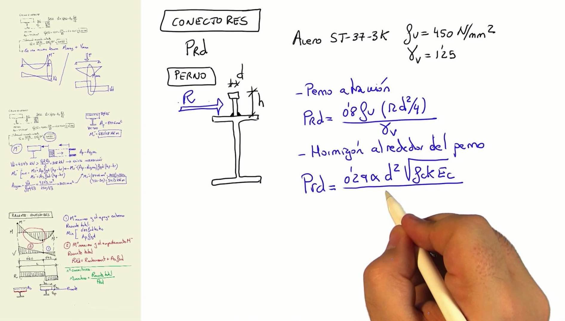 Imagen ¿Cómo calcular los conectores de una estructura mixta?