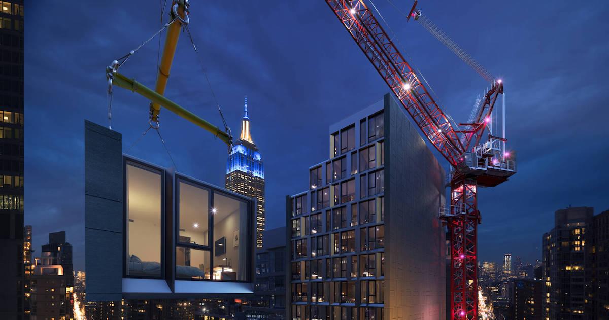 Imagen El hotel modular más alto del mundo se construye en Nueva York