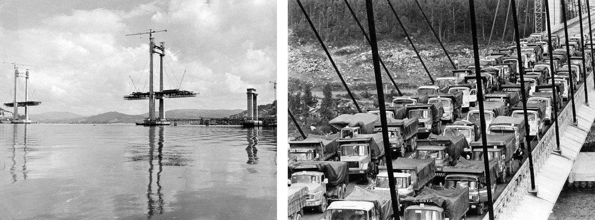 Construcción y prueba de carga del puente de Rande