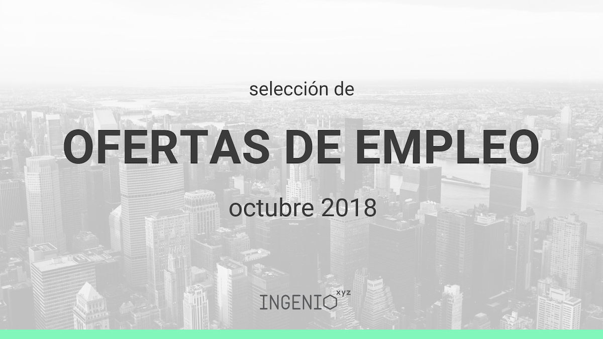 Imagen Selección ofertas de empleo (Octubre 2018)
