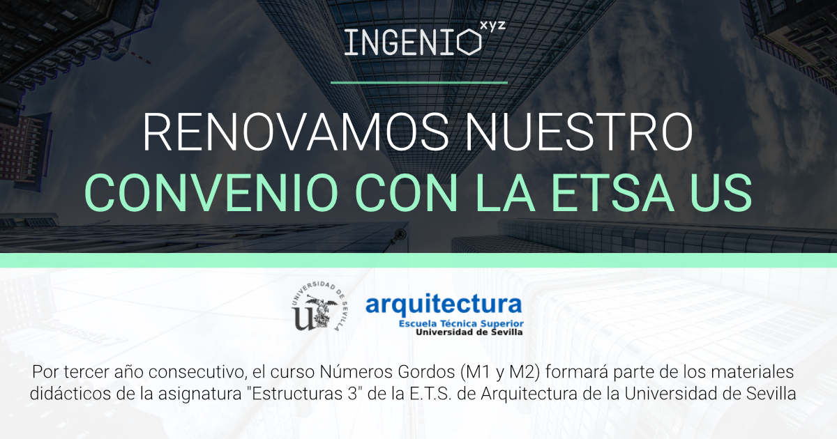 Imagen La E.T.S. de Arquitectura de la Universidad de Sevilla mantiene el curso de Números Gordos entre sus materiales didácticos.