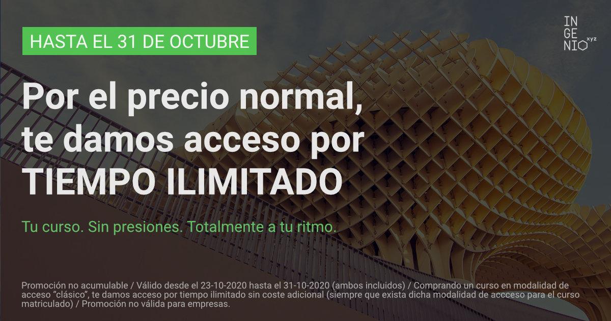 Imagen Hasta el 31 de Octubre, consigue acceso ilimitado en tu próximo curso sin coste adicional