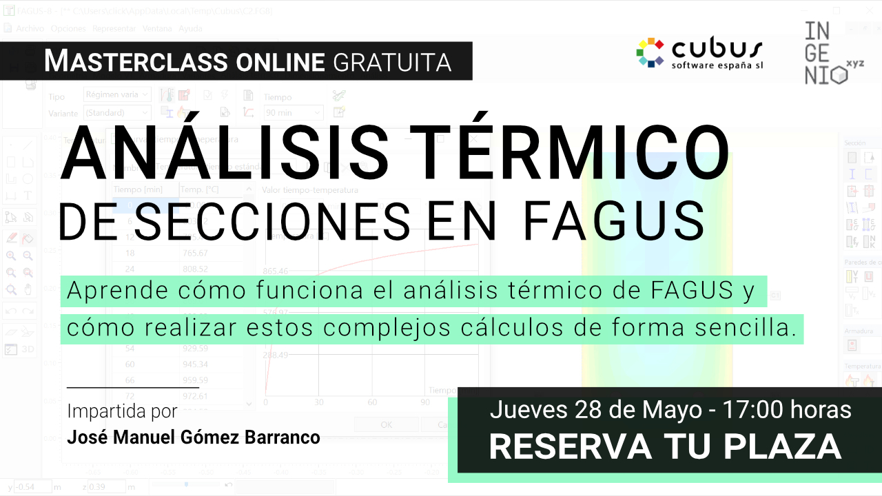 """Imagen Masterclass """"Análisis térmico de secciones en FAGUS"""" - Jueves 28 de Mayo (17:00h)"""