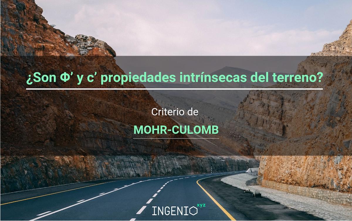 Imagen ¿Son Φ' y c' propiedades intrínsecas del terreno? Criterio Mohr-Coulomb