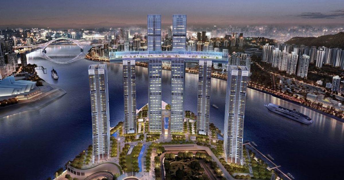 Raffles City Chongqing: el rascacielos horizontal chino