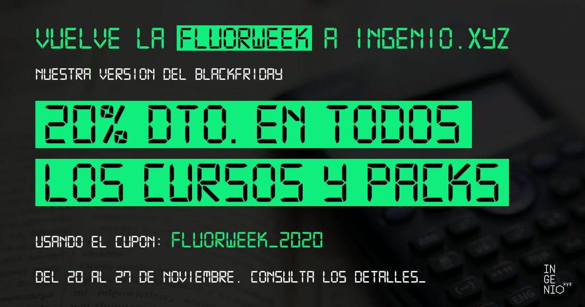 Imagen Vuelve la #FluorWeek: 20% dto. en cualquier Curso, Colección o Nanomáster