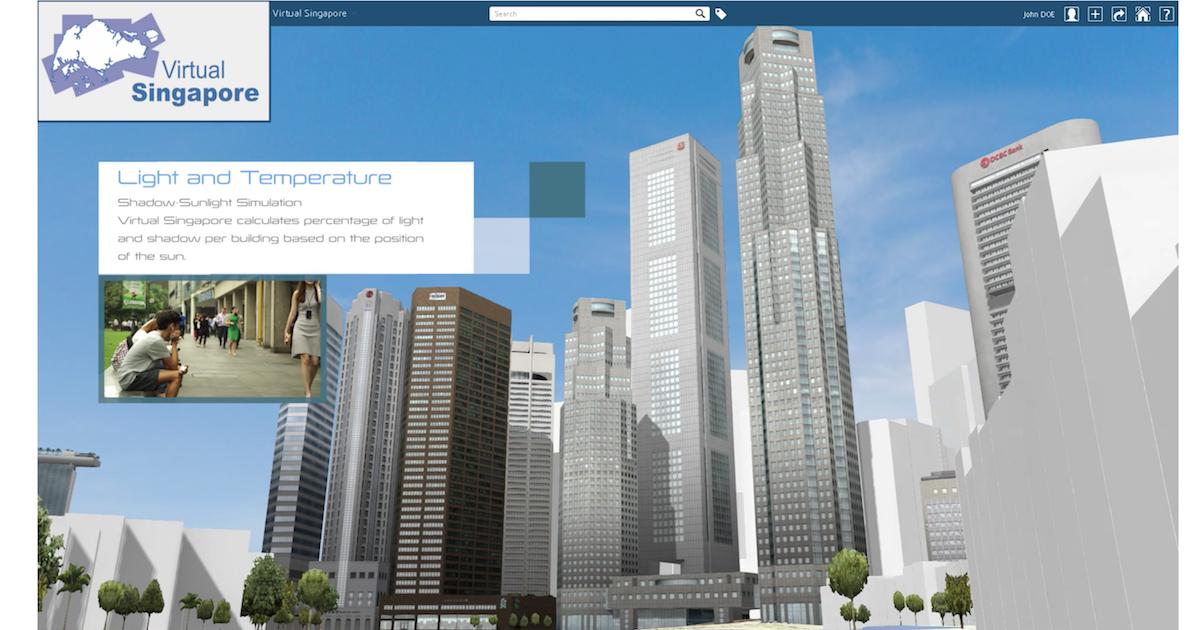 Imagen Singapur experimenta con su gemelo digital