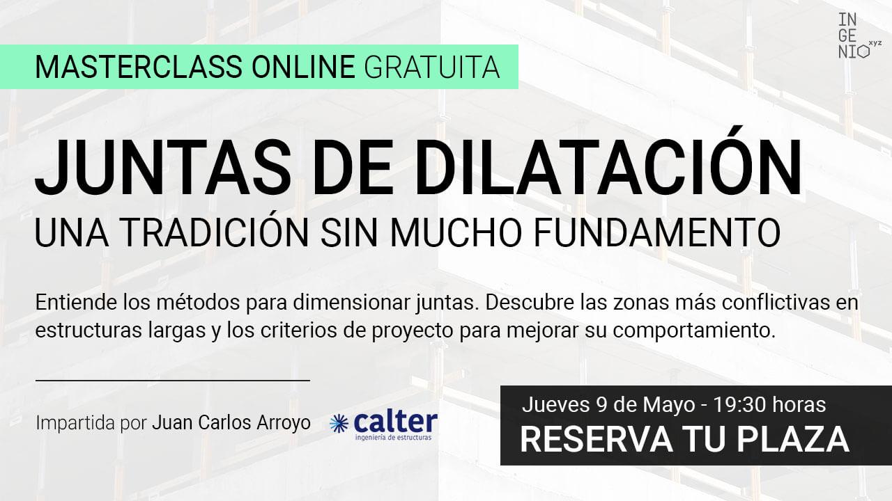 Imagen Masterclass online: Juntas de dilatación en estructuras - Jueves 9 de mayo (19:30 h)