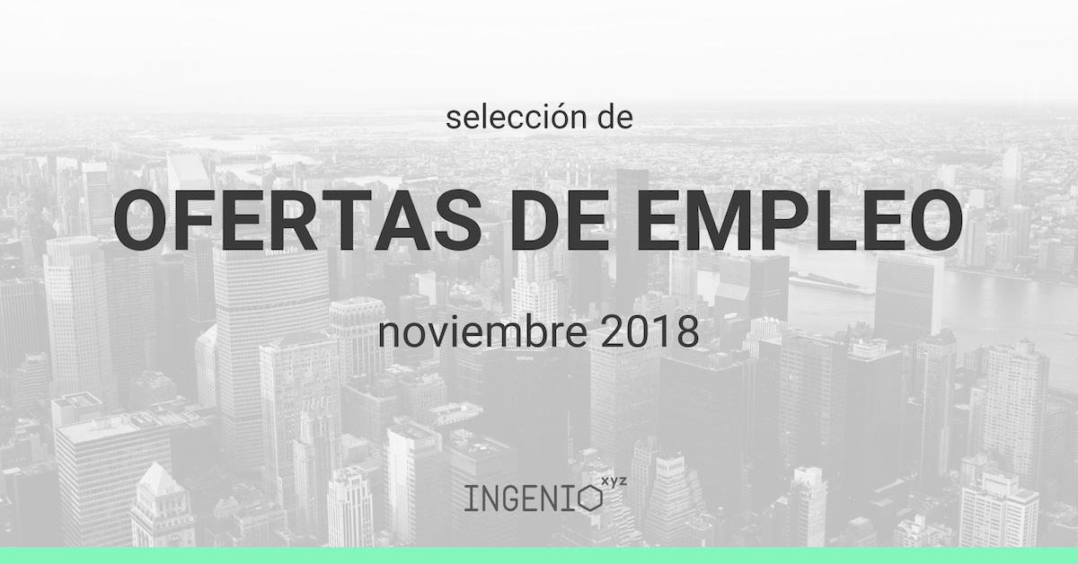 Imagen Selección ofertas de empleo Noviembre 2018