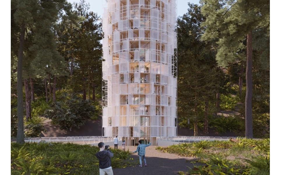Imagen Un rascacielos creado para evitar incendios