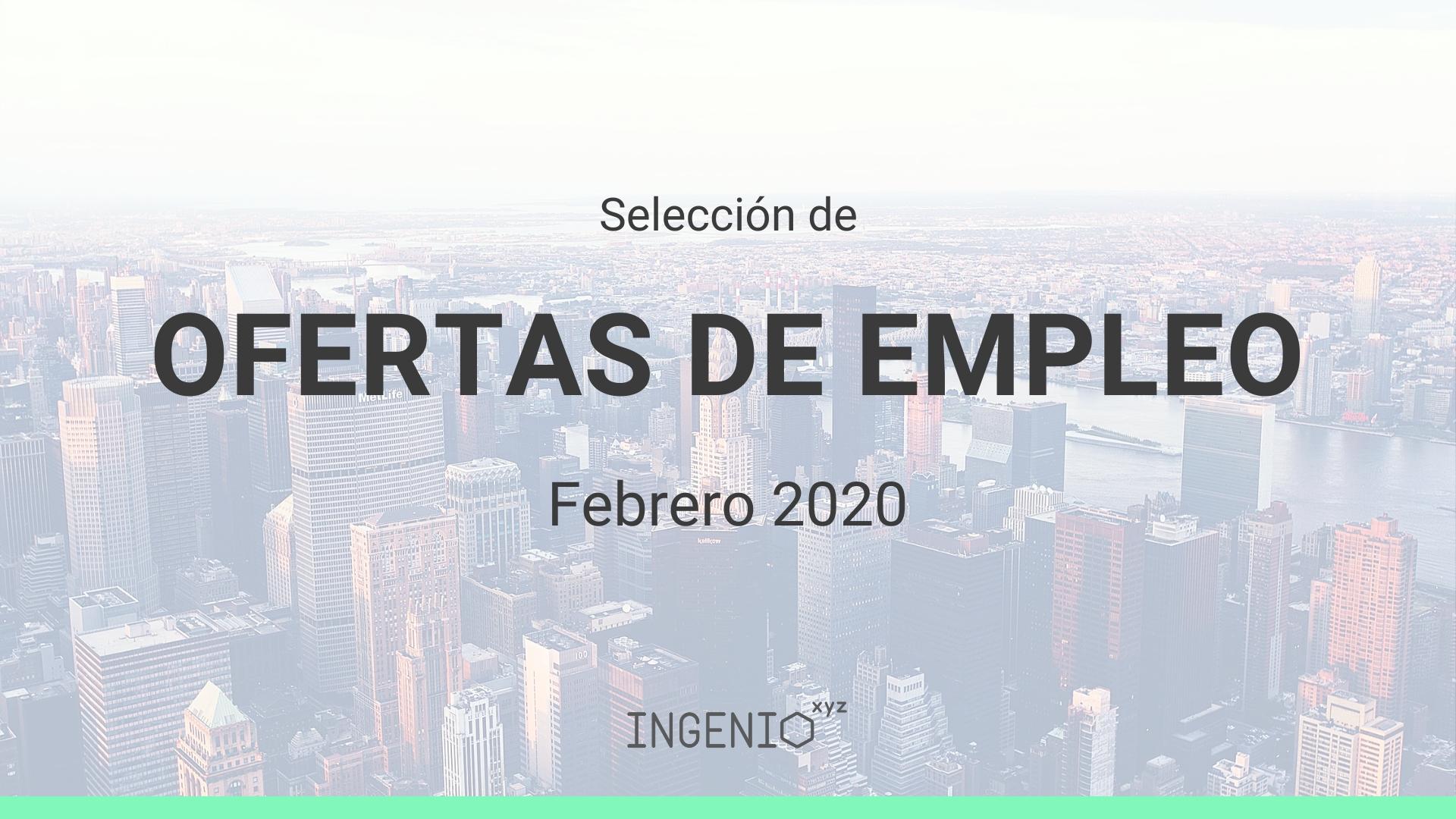 Imagen Selección ofertas de empleo Febrero 2020