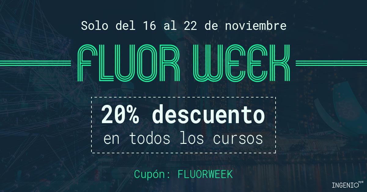 Imagen Vuelve la #FluorWeek de ingenio.xyz: 20% de descuento en todos los cursos durante 7 días
