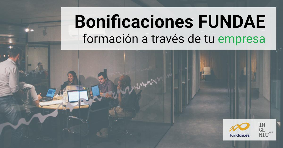 Imagen Formación a través de tu empresa (bonificaciones FUNDAE)