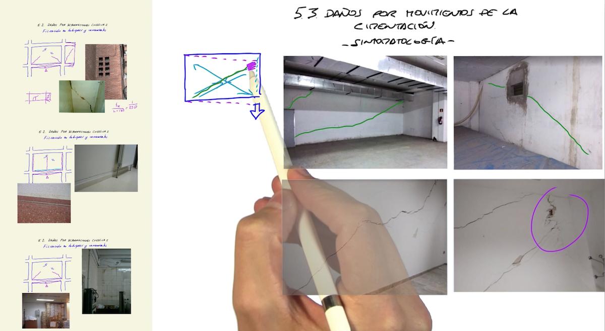 Imagen Cómo interpretar las fisuras diagonales que aparecen en los tabiques de un edificio